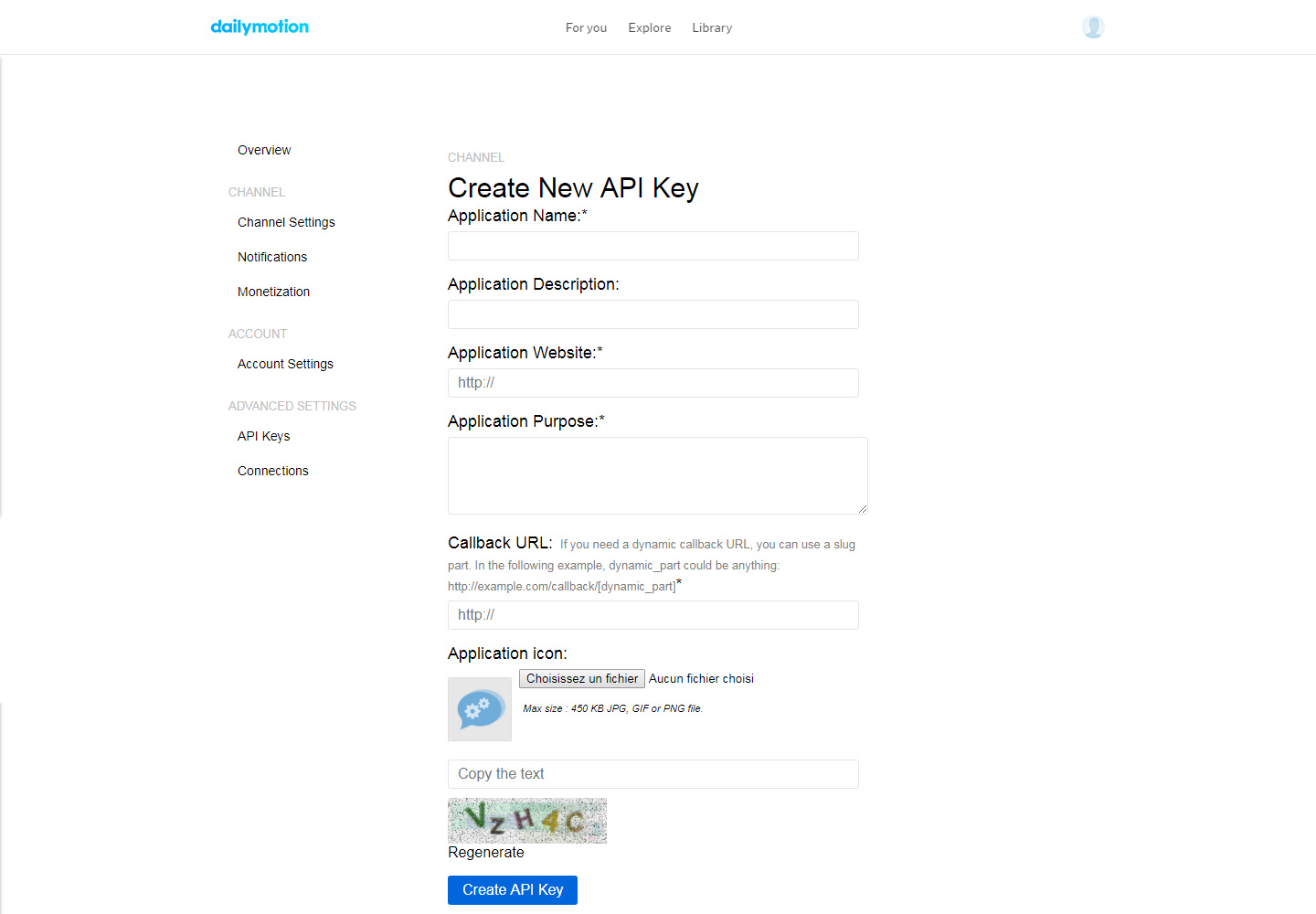 Where to find Dailymotion API Keys - WP Video Robot Support Center
